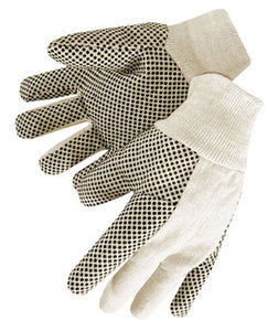 8 oz Cotton Canvas Wing Thumb with PVC Dots - Men's Large  25 DOZEN PER BOX #4505W
