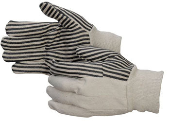 10 oz Cotton Canvas Wing Thumb with Black PVC stripes Men's Large 25 DOZEN PER BOX  #4515
