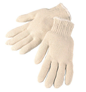 String Knit Gloves Plain 100% Cotton Medium Weight  25 DOZEN PER BOX #4517C