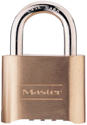 No. 175 Combination Brass Padlock (1 in. Shackle) (6 Per Box)
