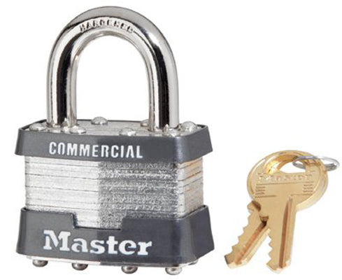 No. 1 Laminated Steel Pin Tumbler Padlocks (4 Per Box)
