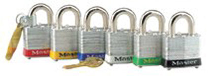 Red Steel Body Safety Padlock (6PK)