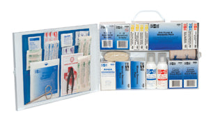 PAC-KIT® 100 Person Industrial First Aid Kit w/ Eye Cleaners (1 Kit)