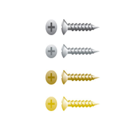 Phillips Oval Head Particle Board Screws,