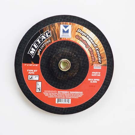 TYPE 27 DEPRESSED CENTER PIPE CUTTING & GRINDING WHEELS (FOR METAL)