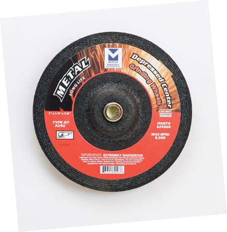 TYPE 27 DEPRESSED CENTER LONG LIFE GRINDING WHEEL (FOR METAL)