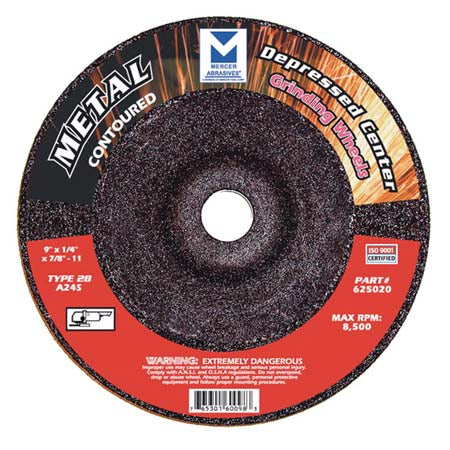 TYPE 28 CONTOURED DEPRESSED CENTER GRINDING WHEELS (FOR METAL)
