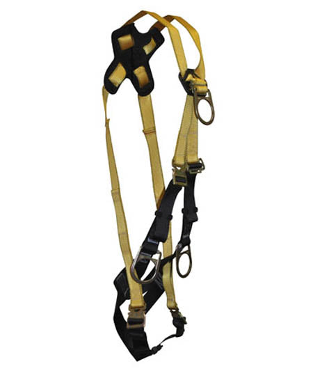 Journeyman Full Body Harness 4-D Crossover Quick-Connect Legs/Chest