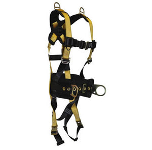Journeyman Full Body Harness 5-D Construction/Retrieval Quick-Connect Legs/Chest