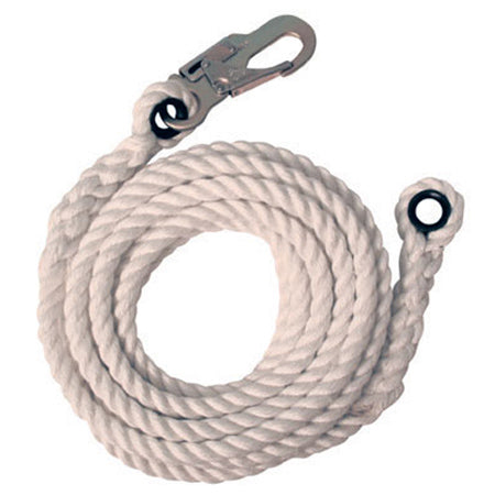 100' VERTICAL LIFELINE WITH SNAP HOOK AND THIMBLED END
