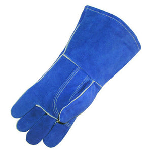 WELDING GLOVE BLUE LEATHER WITH REINFORCED THUMB & PALM (left hand only) LARGE 3 DZ/BOX #7354