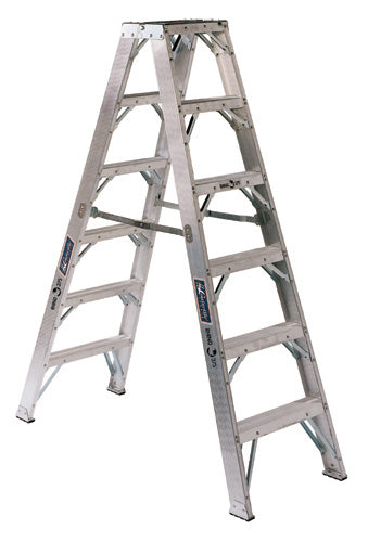Rhino AM1100HD Series Aluminum Twin Front Ladder (Type IAA)