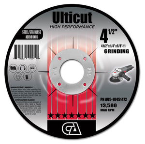 ULTICUT TYPE 27 DEPRESSED CENTER GRINDING WHEELS (FOR METAL)