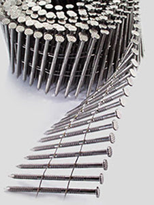 316 Stainless Steel Wire Coil 15° Ring Shank Decking Nails