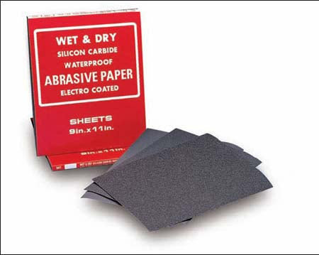 9X11 SILICON CARBIDE WATERPROOF PAPER SHEETS
