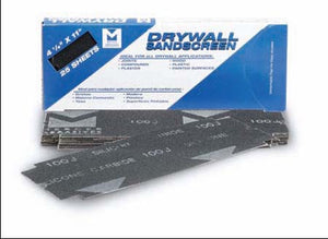 "4-1/8"" X 11"" DRYWALL SANDSCREEN SHEETS"