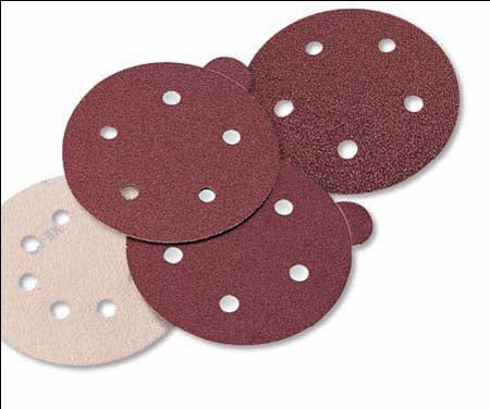 Aluminum Oxide Red Discs - Hook & Loop 6
