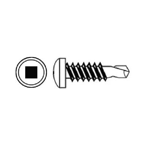 Square Drive Pan Head Zinc Plated Self Drilling Screw