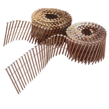 15° WIRE COIL ROOFING NAILS HOT DIPPED GALV (RINGSHANK)