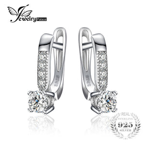 JewelryPalace 1ct Clip Earrings 925 Sterling Silver