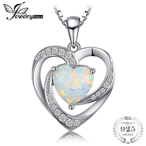 JewelryPalace Fashion 2.54ct Created Opals Heart