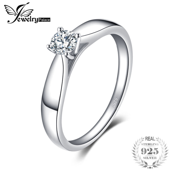 JewelryPalace 925 Sterling Silver 0.2ct Cubic Zirconia