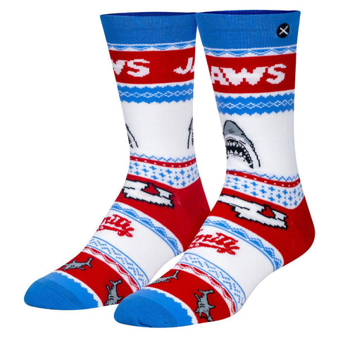 Unisex Jaws Christmas Jumper Socks