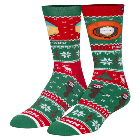 Unisex South Park Cartman and Kenny Christmas Jumper Socks