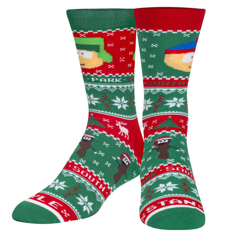 Unisex South Park Kyle and Stan Christmas Jumper Socks