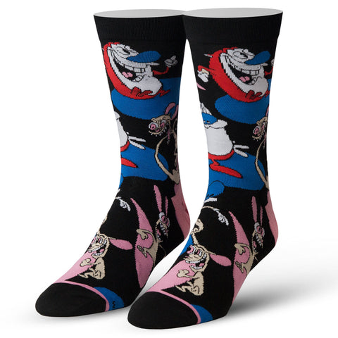 Men's Ren and Stimpy Socks