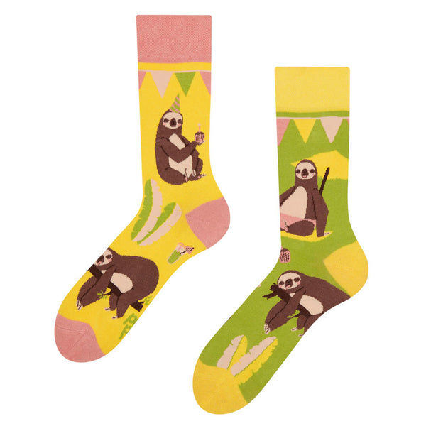 Unisex Party Sloth Socks