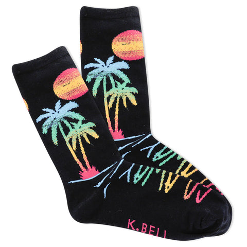 Women's Go Away Tropical Socks