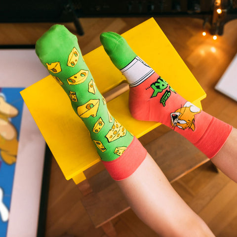 Unisex Tom and Jerry Cheese Socks