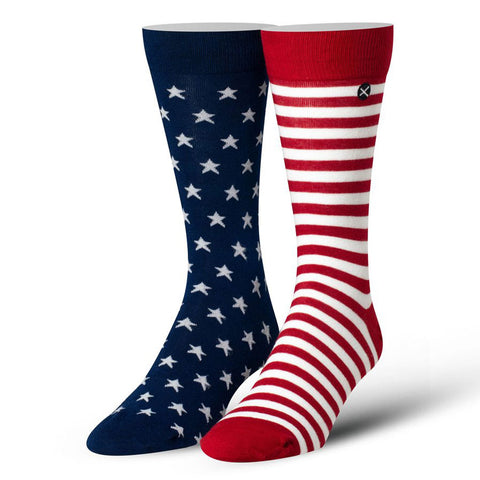 Men's American Flag Stars and Stripes Dress Socks
