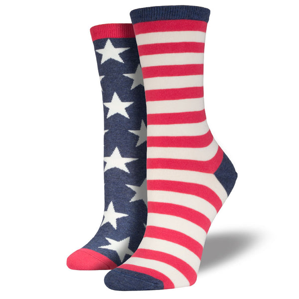 Women's American Flag Stars and Stripes Socks