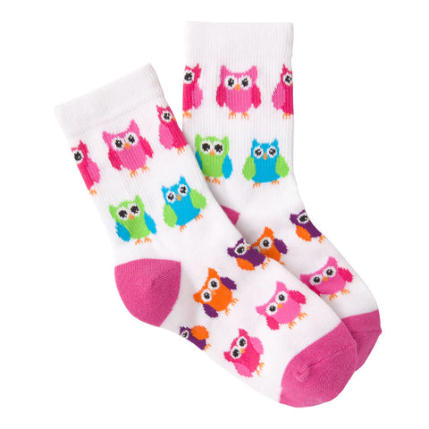 Kids' Colourful Owls Socks