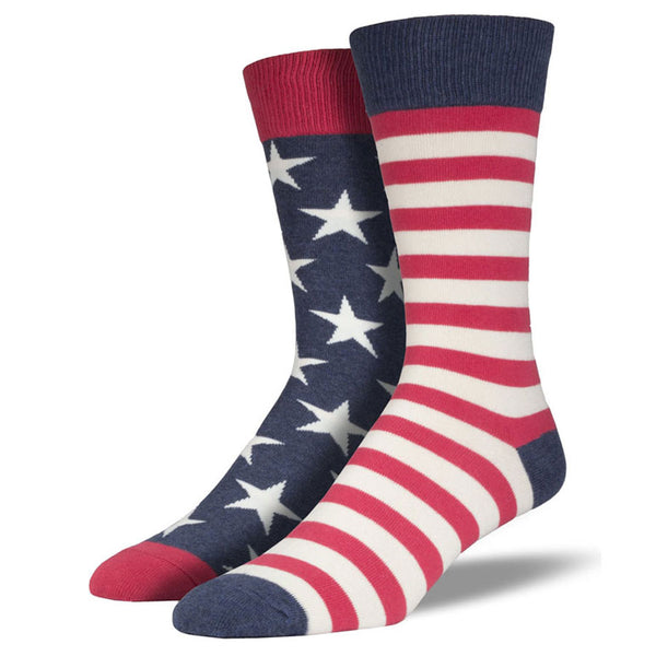 Men's American Flag Stars and Stripes Socks