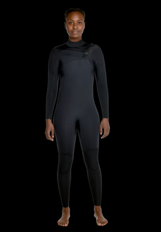Womens 3/2 chest zip wetsuit