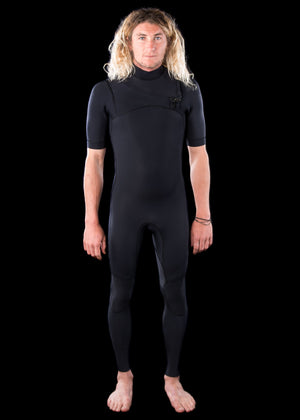 Mens 2.5mm Premium Essential Short Arm Chest Zip Wetsuit