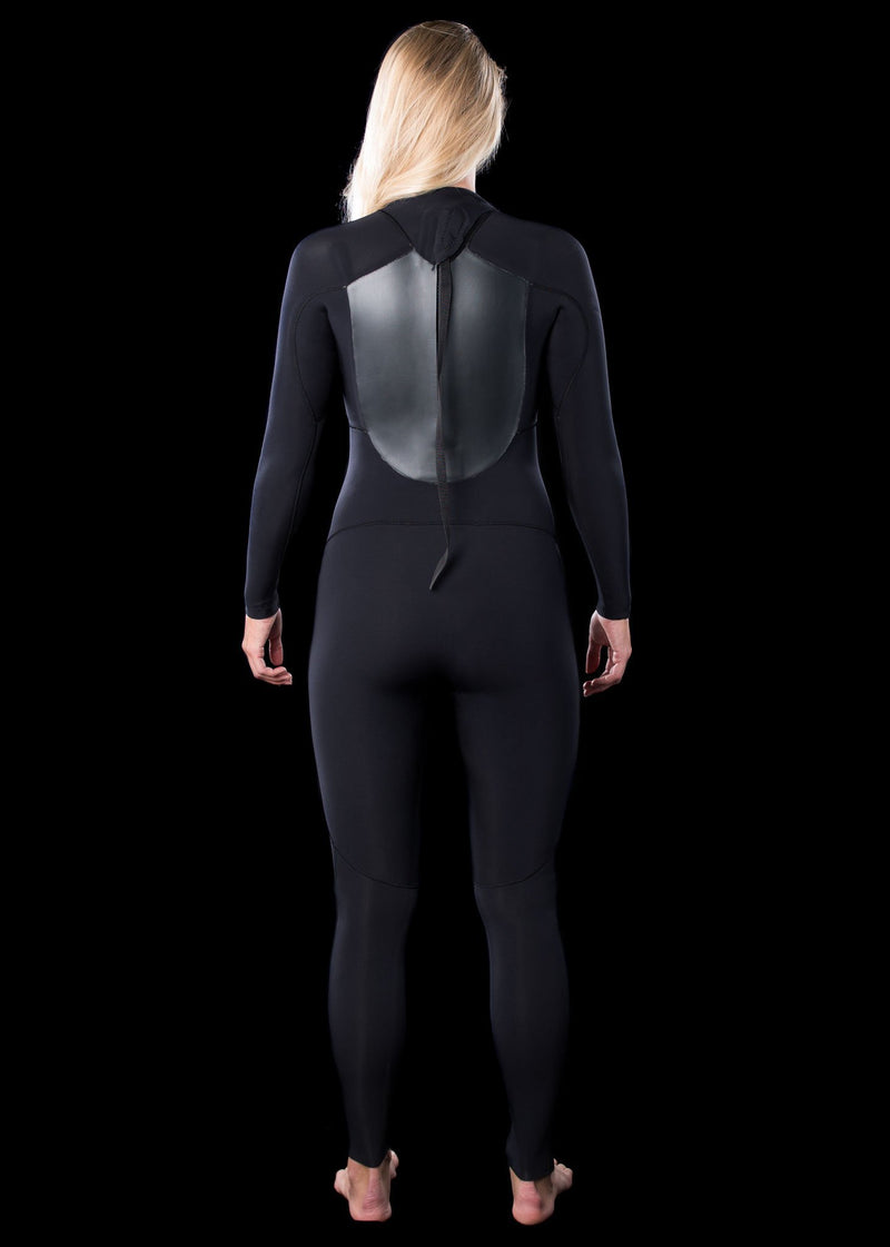 womens 4/3 backzip wetsuits