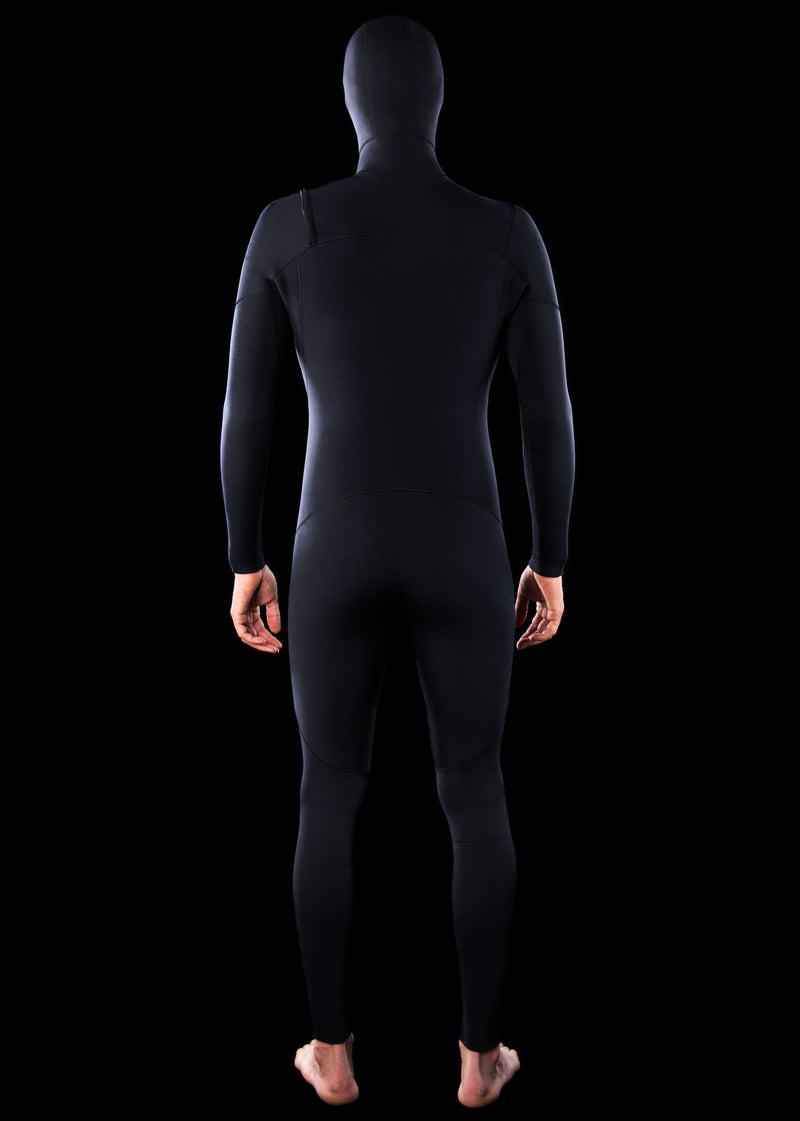 Mens 4/3 Hooded Fast Dry Chest Zip Wetsuit