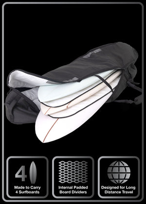 Quad Coffin surfboard bag