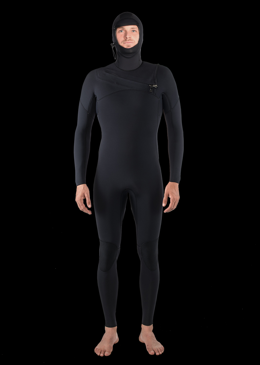 Mens 5/4 Premium Hooded Thermal Chest Zip Wetsuit
