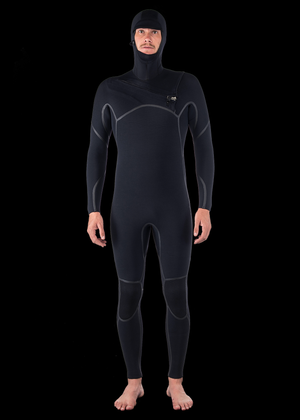 4/3 Liquid Fast Dry Hooded Chest Zip Wetsuit