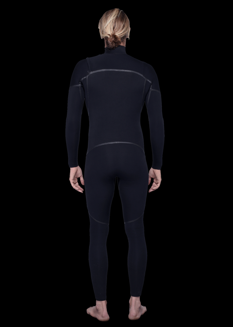 Mens 3/2 Liquid Fast Dry Chest Zip Wetsuit