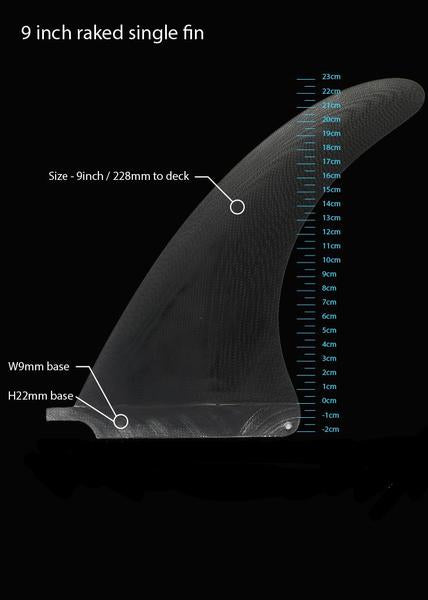 "needessentials 9"" Raked Surfboard Fin"