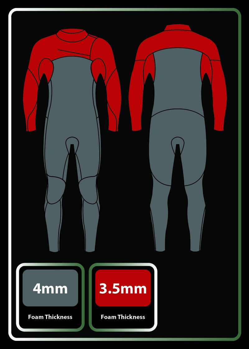 Mens 4/3 Liquid Fast Dry Chest Zip Wetsuit