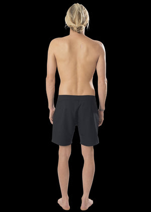 "17"" Black Straight Leg Premium Board Shorts"