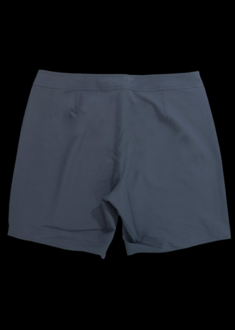 Navy straight leg Boardshort back