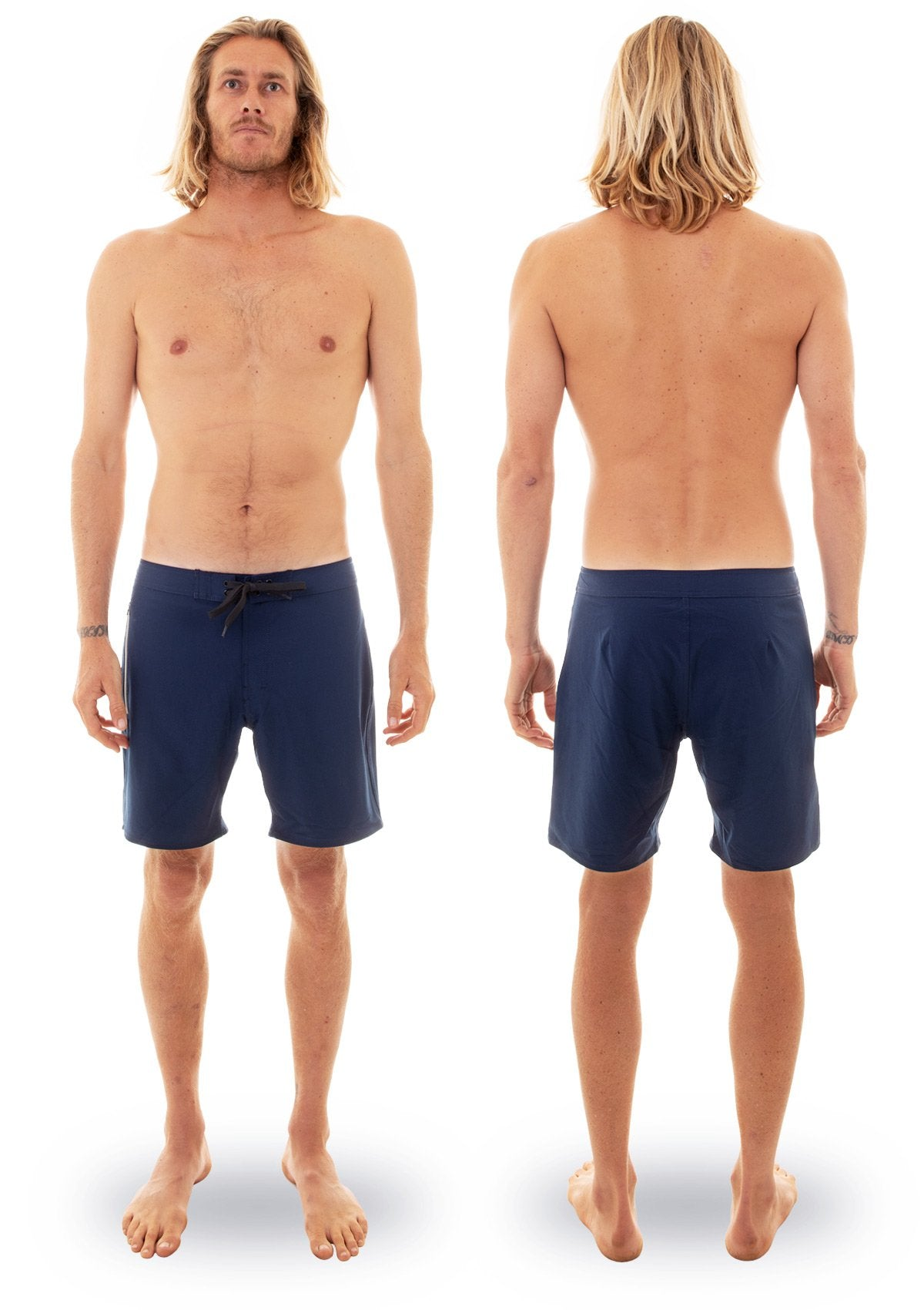 needessentials side mens surfing boardshorts non branded navy torren martyn